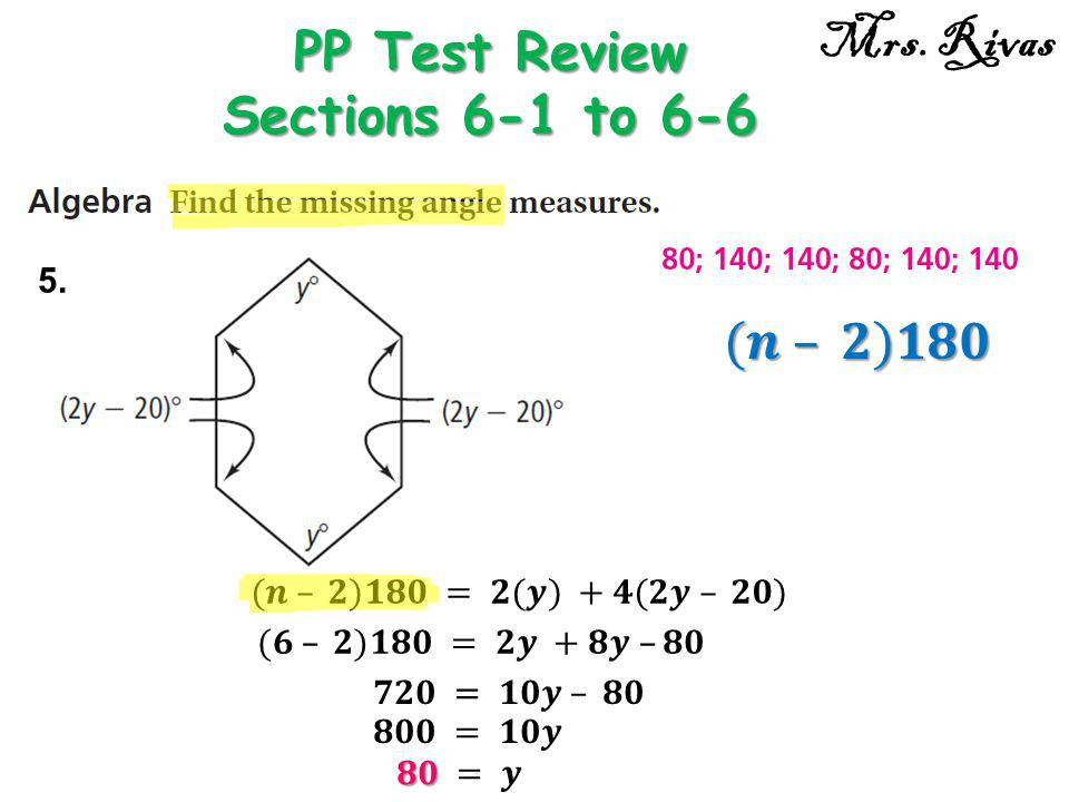 PP Test Review Sections 6-1 to 6-6
