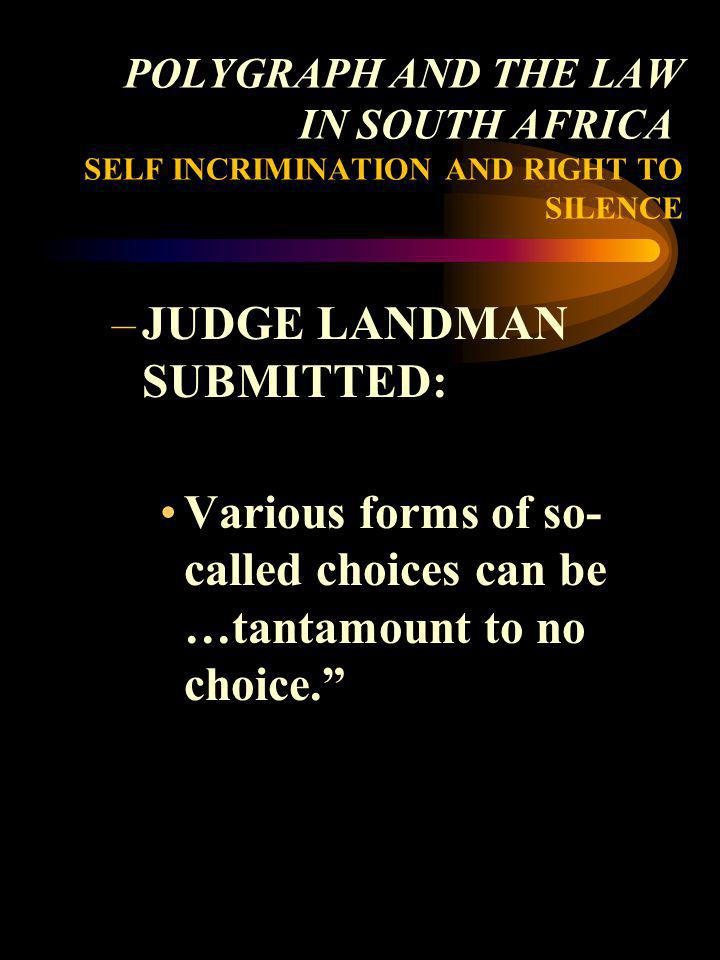 JUDGE LANDMAN SUBMITTED: