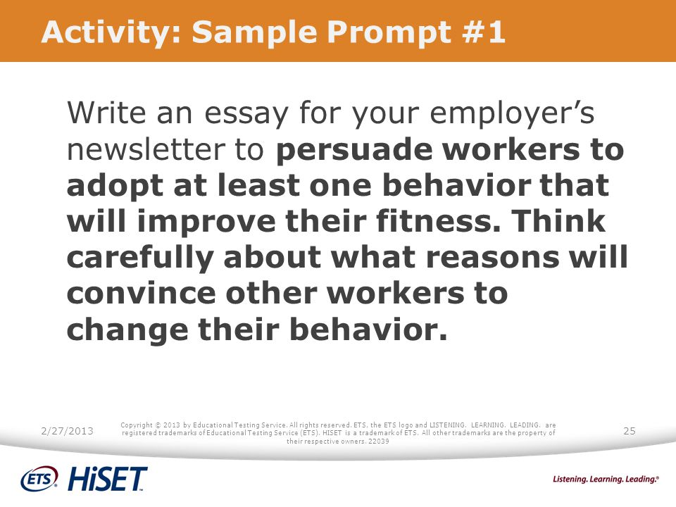 Activity: Sample Prompt #1