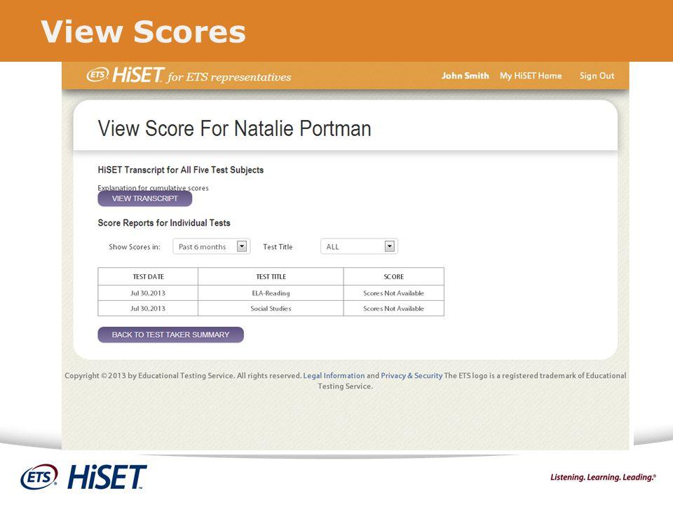 View Scores