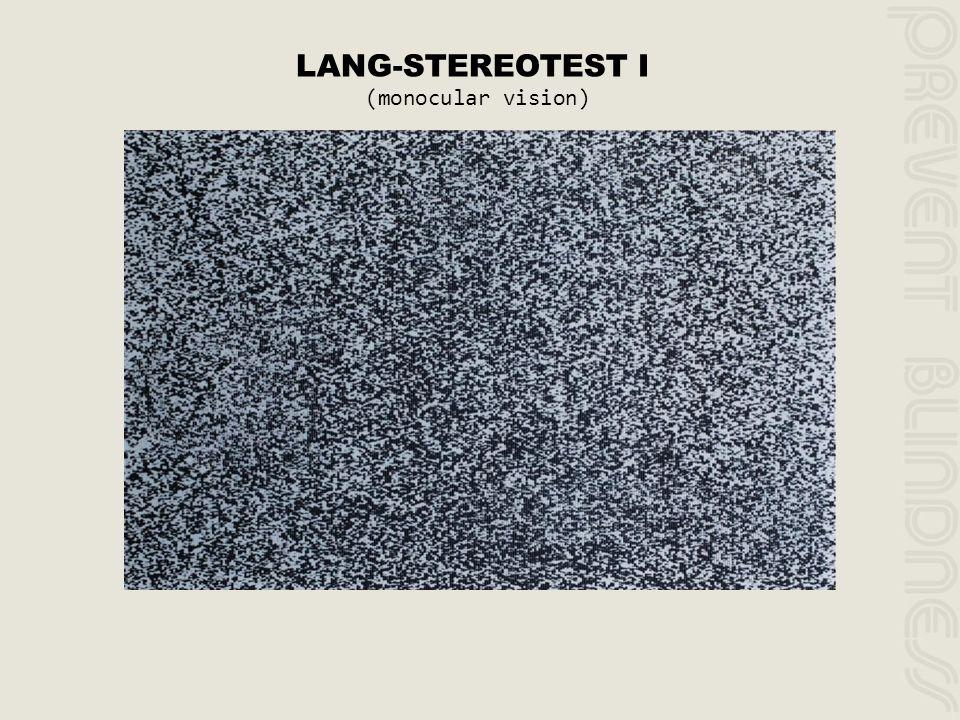 LANG-STEREOTEST I (monocular vision)