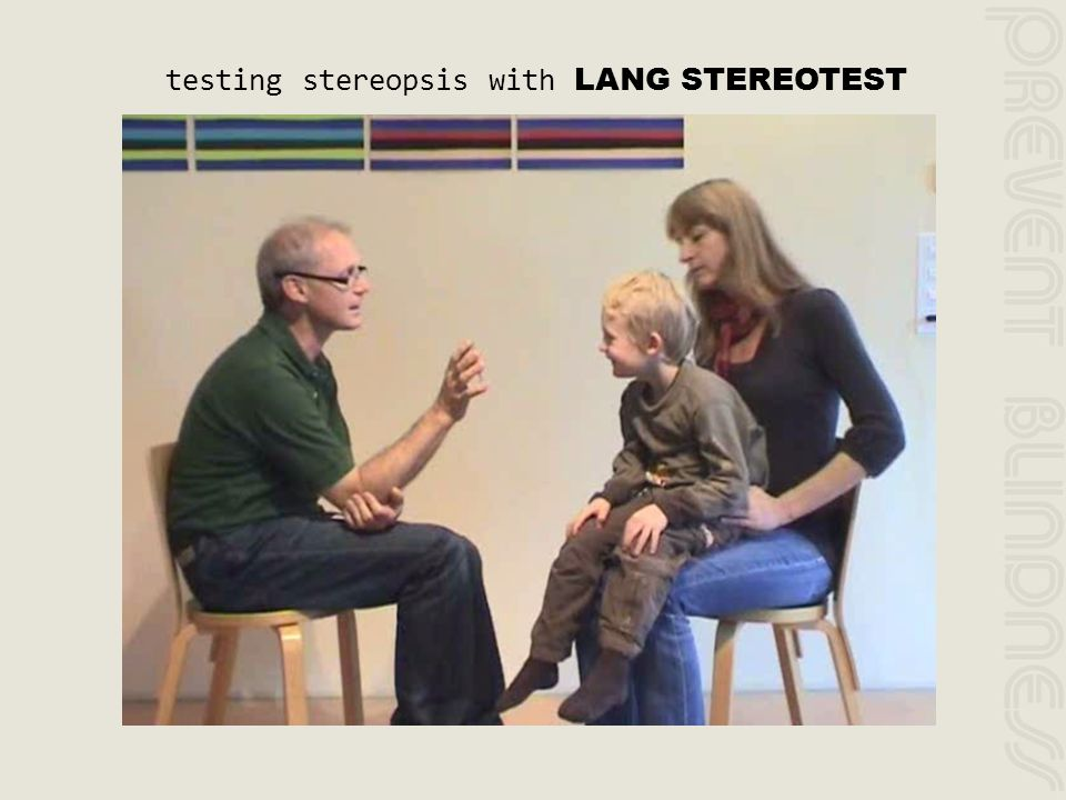 testing stereopsis with LANG STEREOTEST