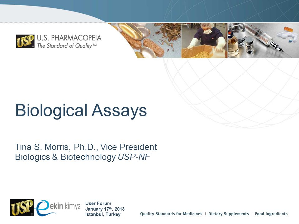 Tina S. Morris, Ph.D., Vice President Biologics & Biotechnology USP-NF