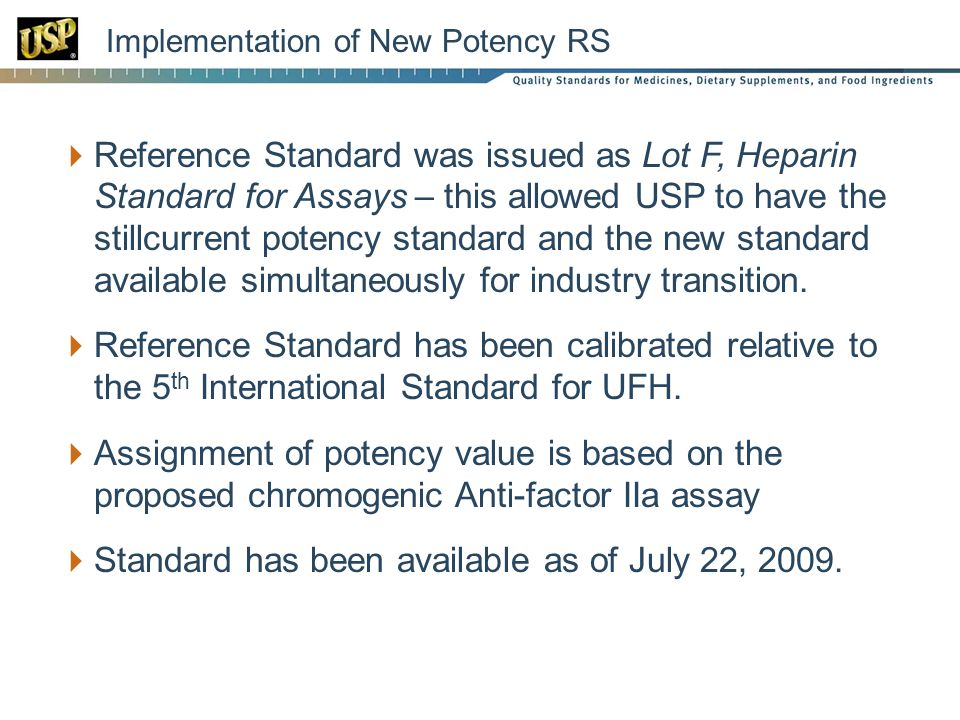 Implementation of New Potency RS