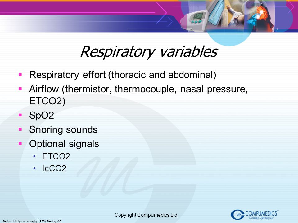 Respiratory variables