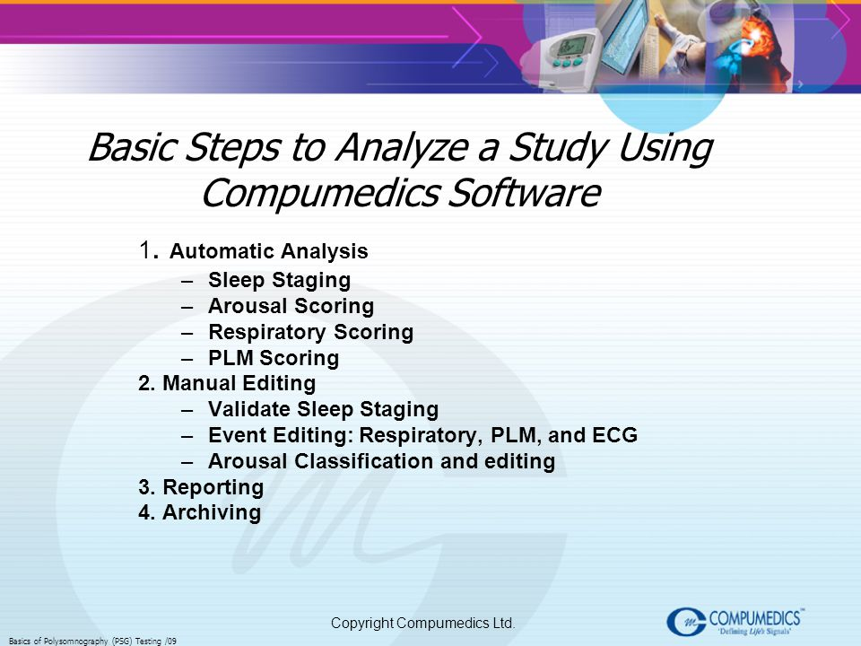 Basic Steps to Analyze a Study Using Compumedics Software
