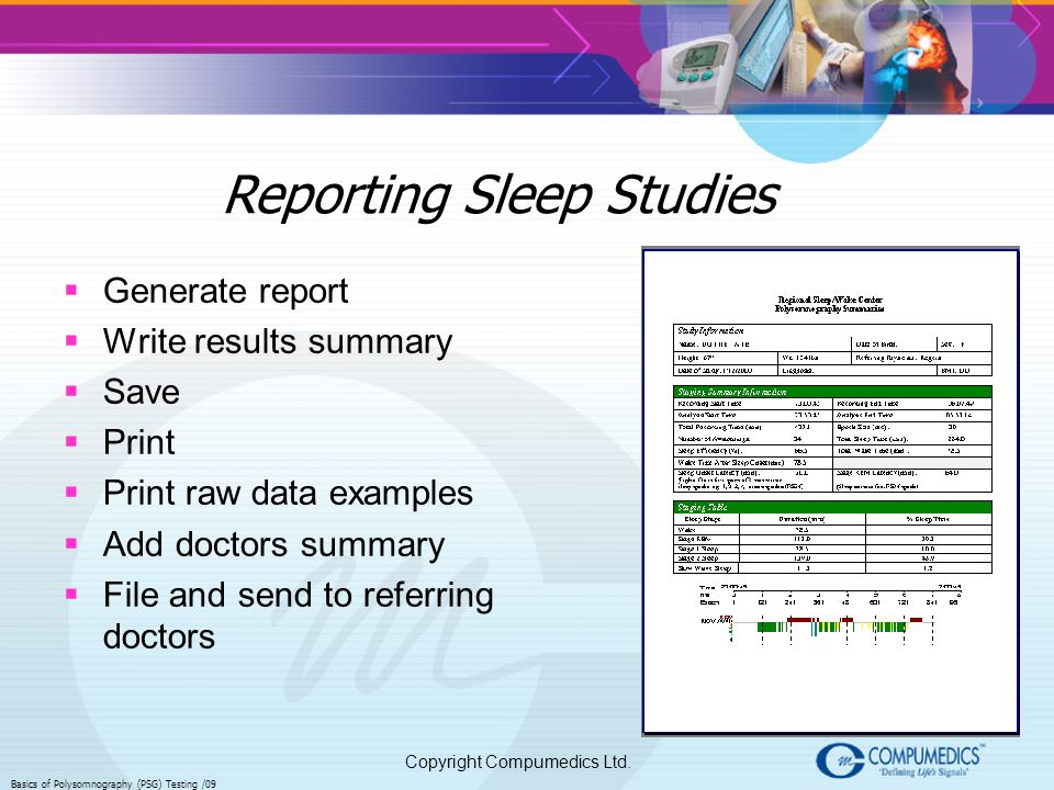 Reporting Sleep Studies