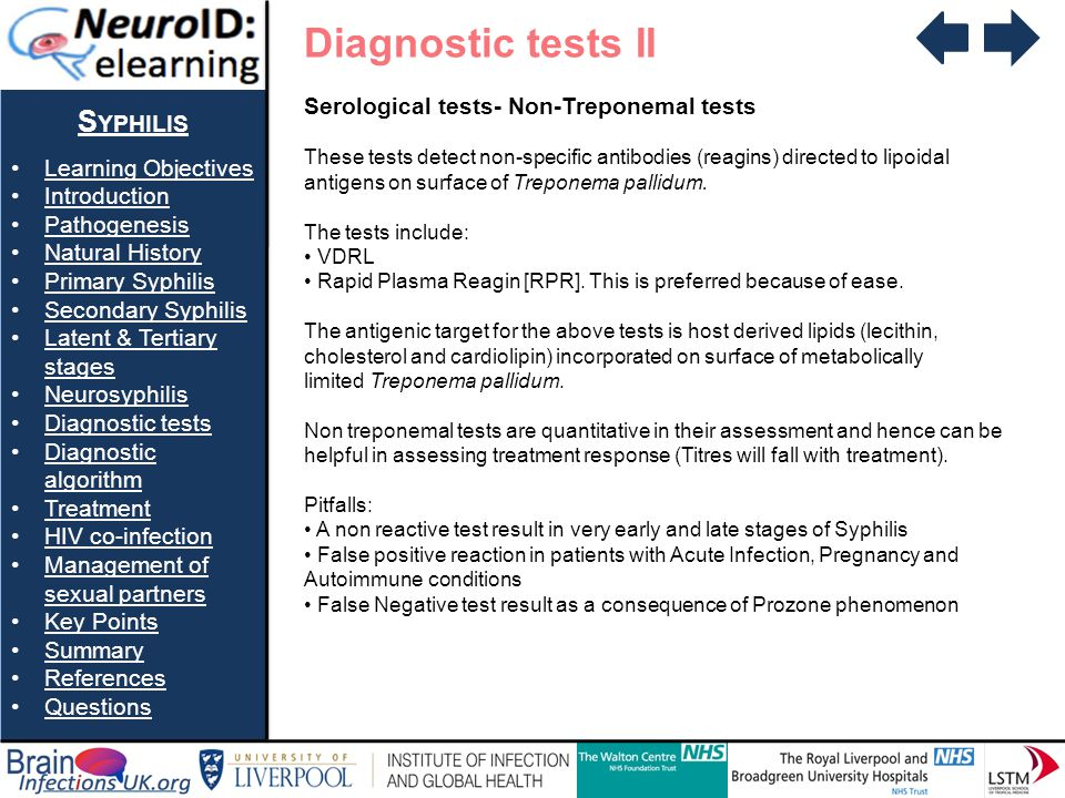 Diagnostic tests II Syphilis Serological tests- Non-Treponemal tests