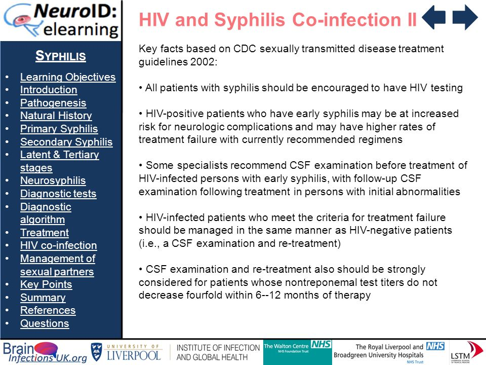 HIV and Syphilis Co-infection II