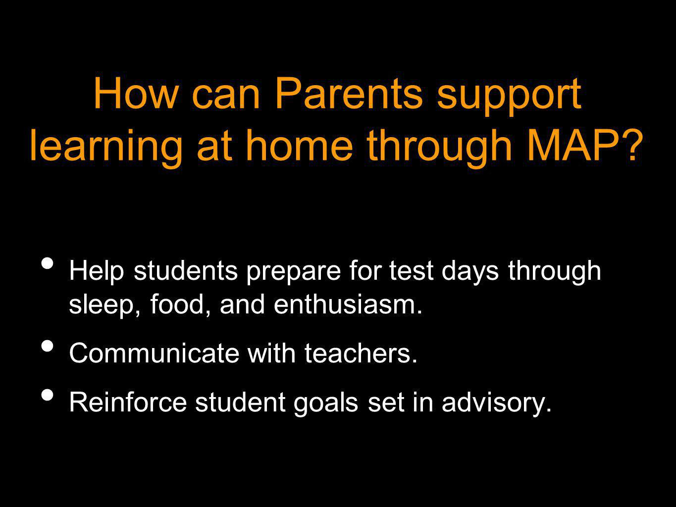 How can Parents support learning at home through MAP