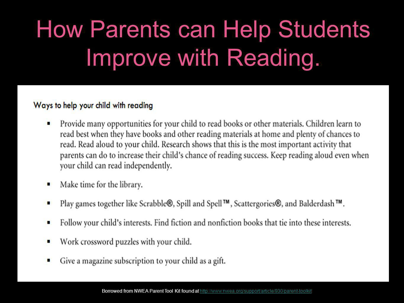 How Parents can Help Students Improve with Reading.