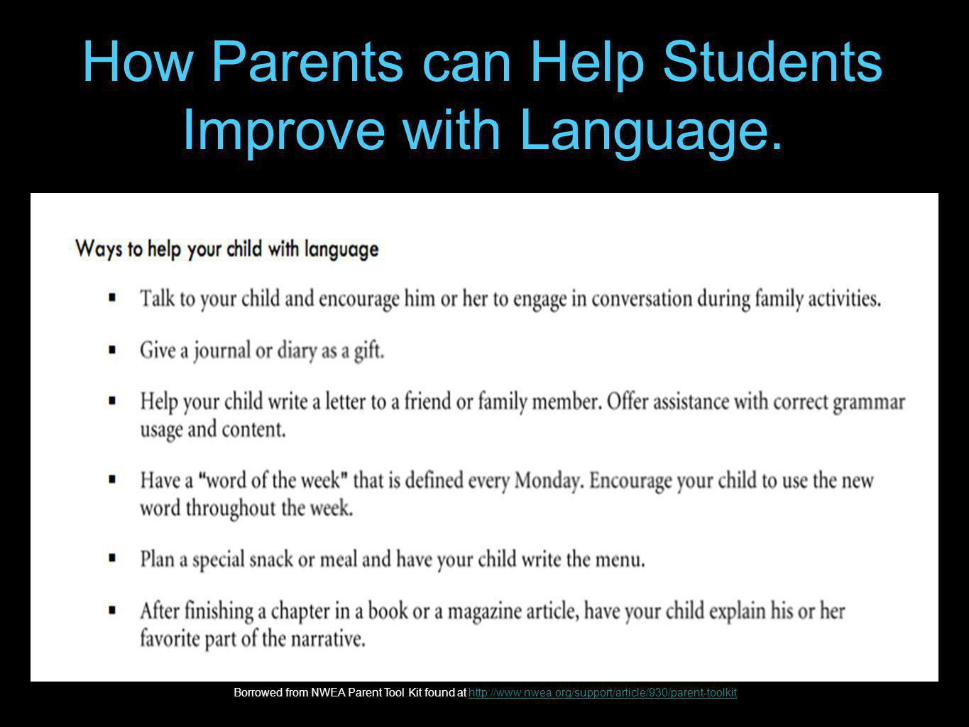 How Parents can Help Students Improve with Language.