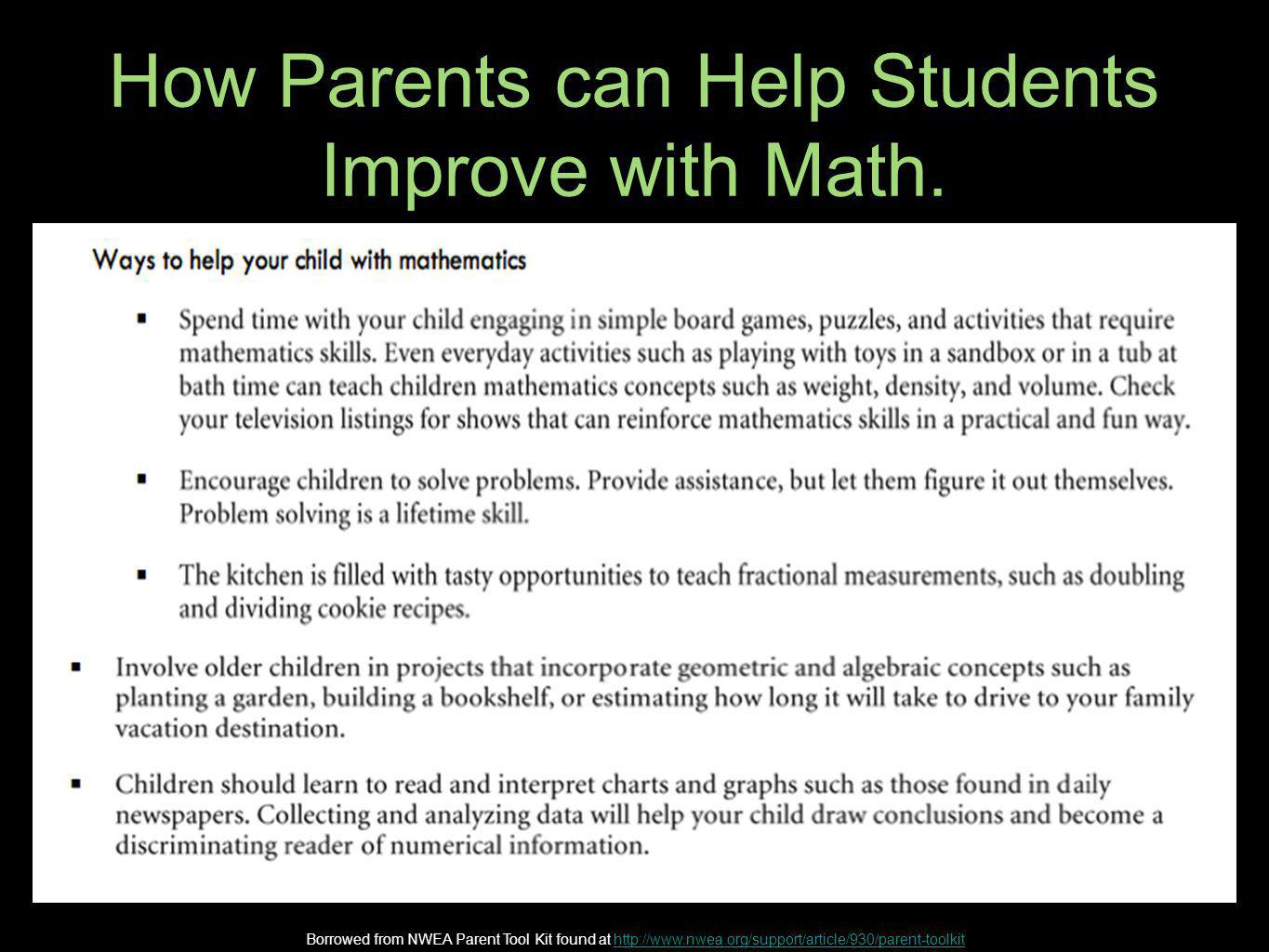 How Parents can Help Students Improve with Math.