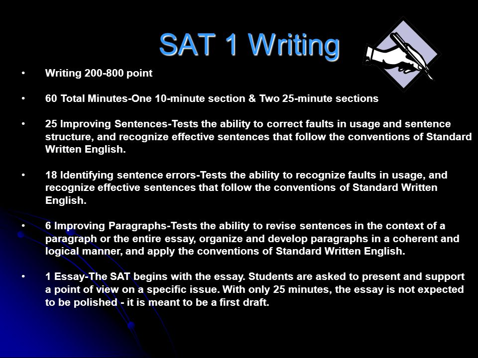 SAT 1 Writing Writing 200-800 point