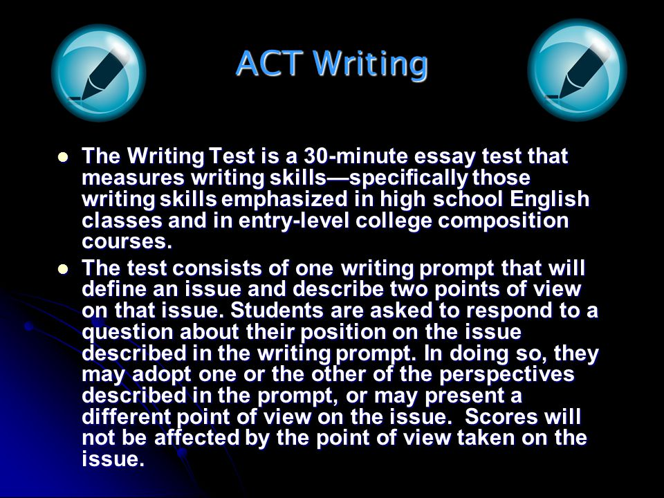 ACT Writing