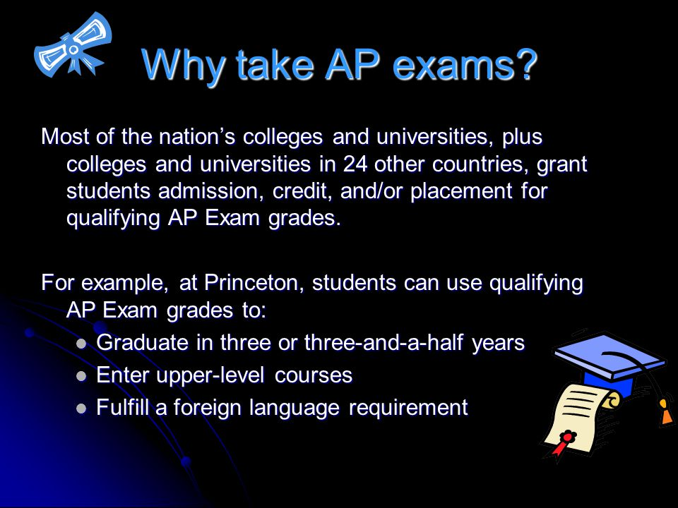 Why take AP exams