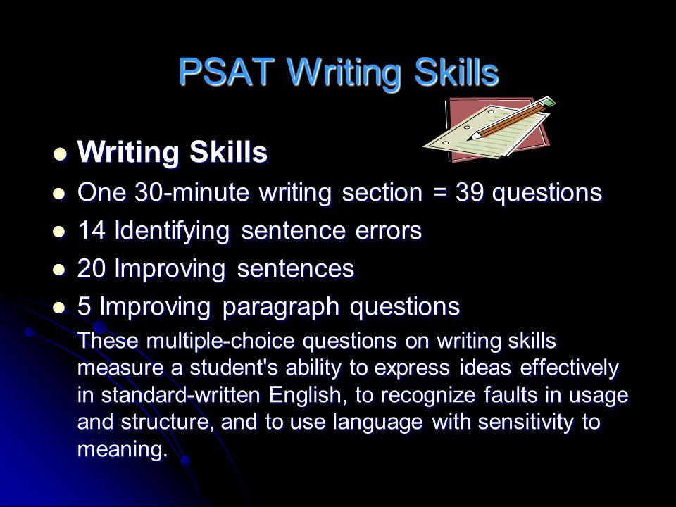 PSAT Writing Skills Writing Skills