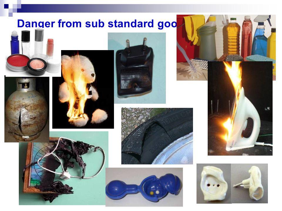 Danger from sub standard goods