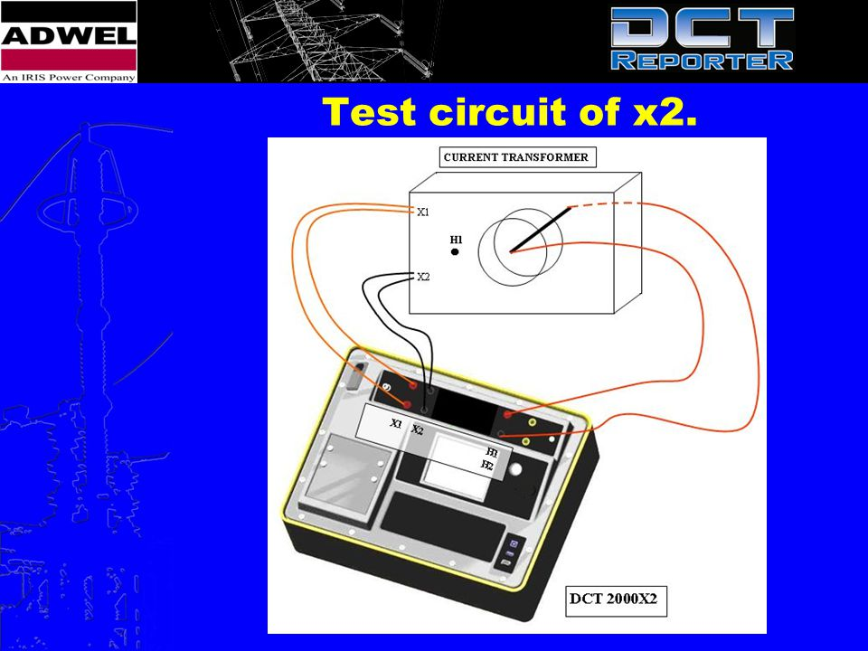 Test circuit of x2.