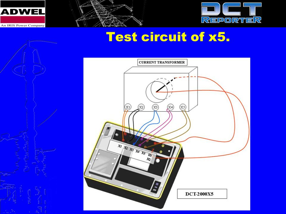 Test circuit of x5.