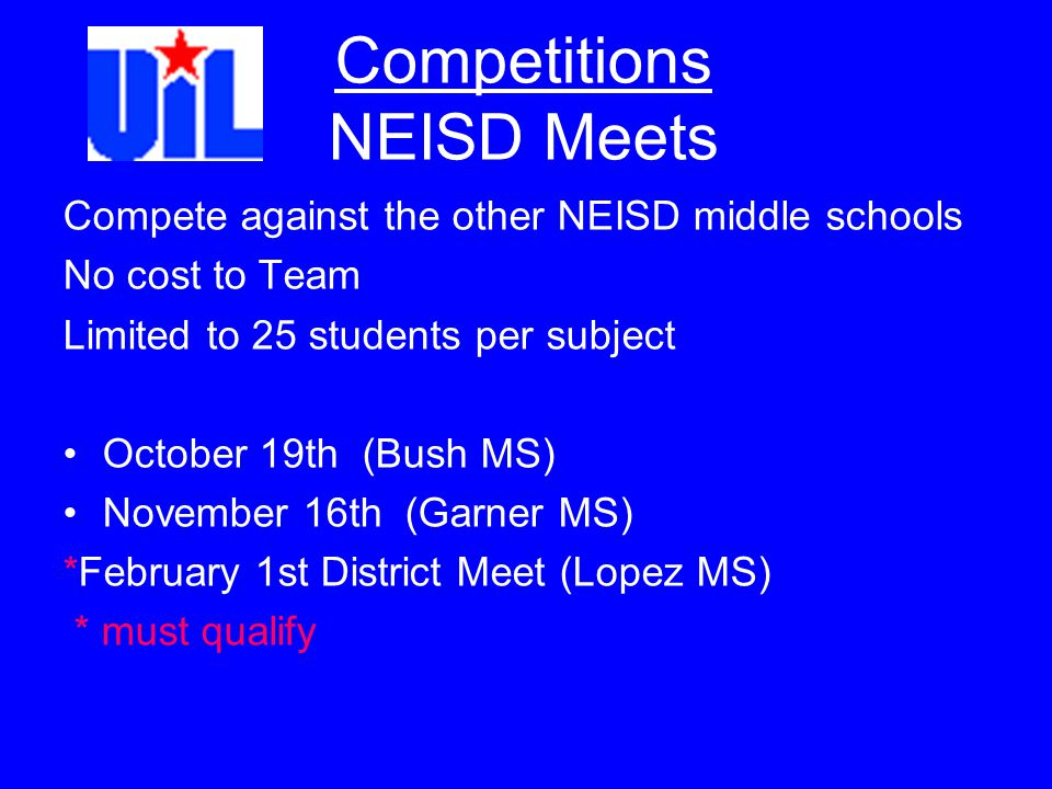 Competitions NEISD Meets