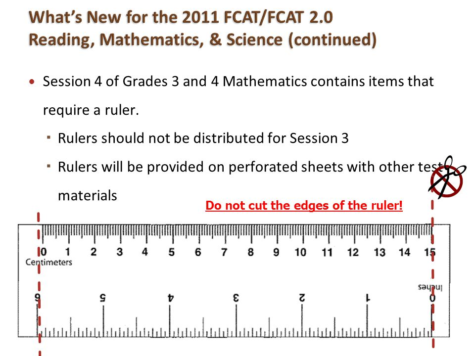 What's New for the 2011 FCAT/FCAT 2