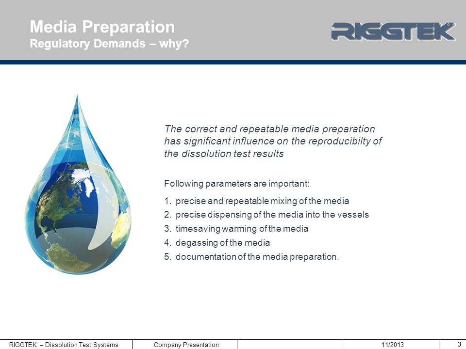 Media Preparation Regulatory Demands – why