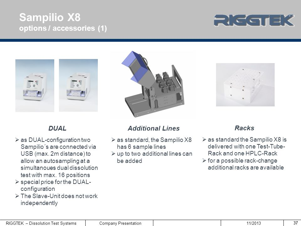 Sampilio X8 options / accessories (1) DUAL Additional Lines Racks