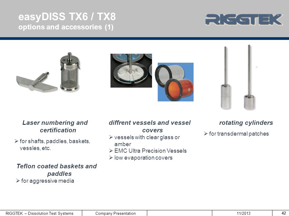 easyDISS TX6 / TX8 options and accessories (1)