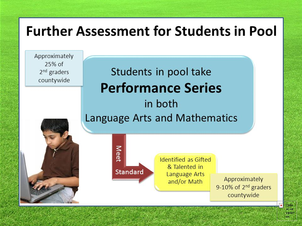 Further Assessment for Students in Pool