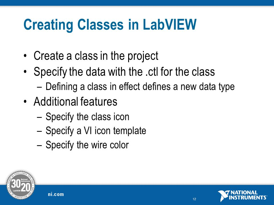 Creating Classes in LabVIEW