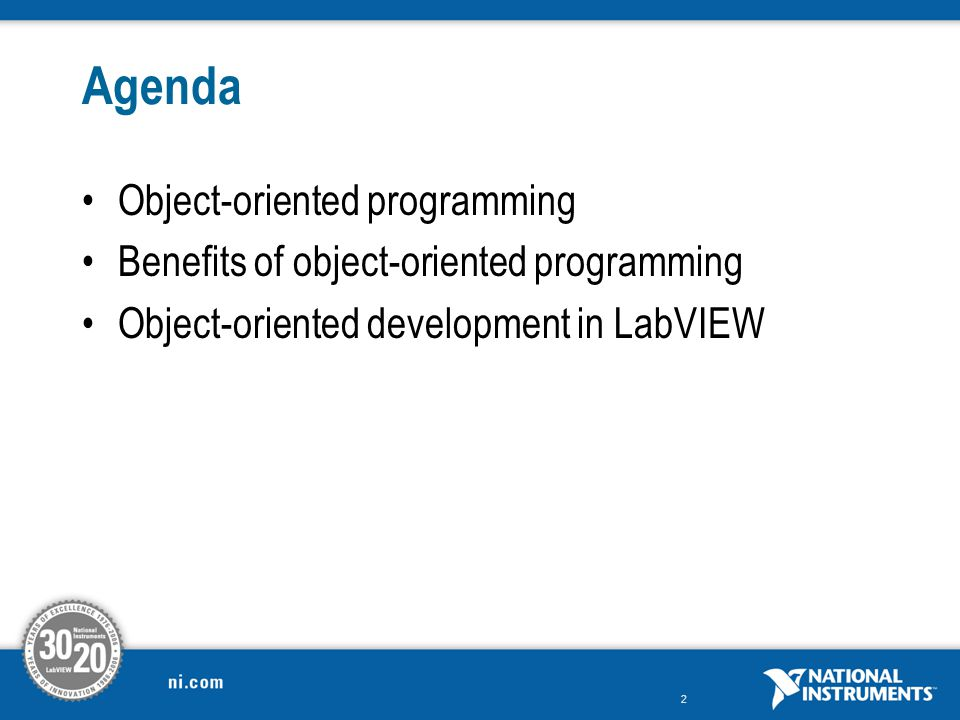 Agenda Object-oriented programming