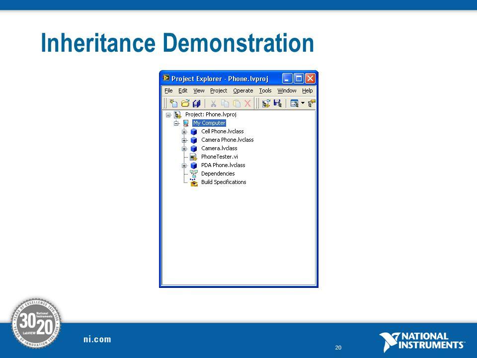 Inheritance Demonstration