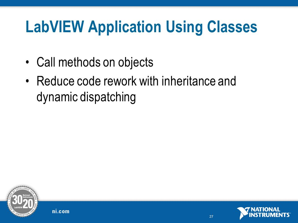 LabVIEW Application Using Classes