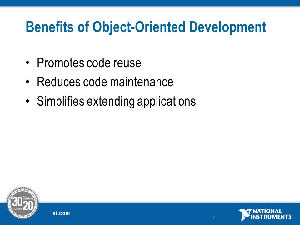 Benefits of Object-Oriented Development