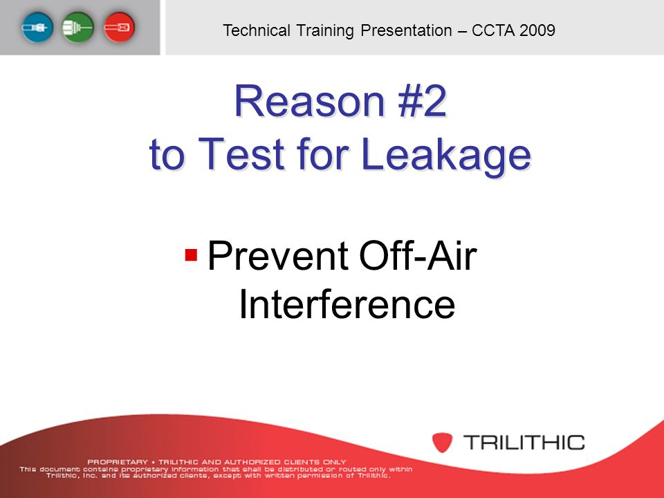 Reason #2 to Test for Leakage