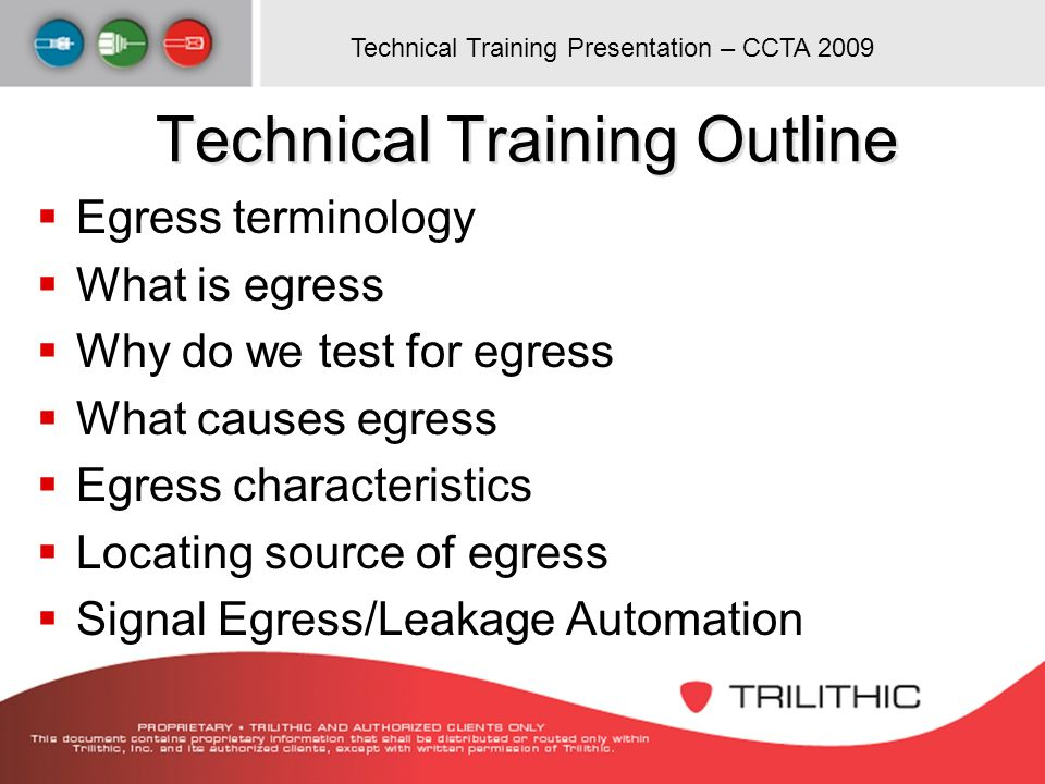 Technical Training Outline