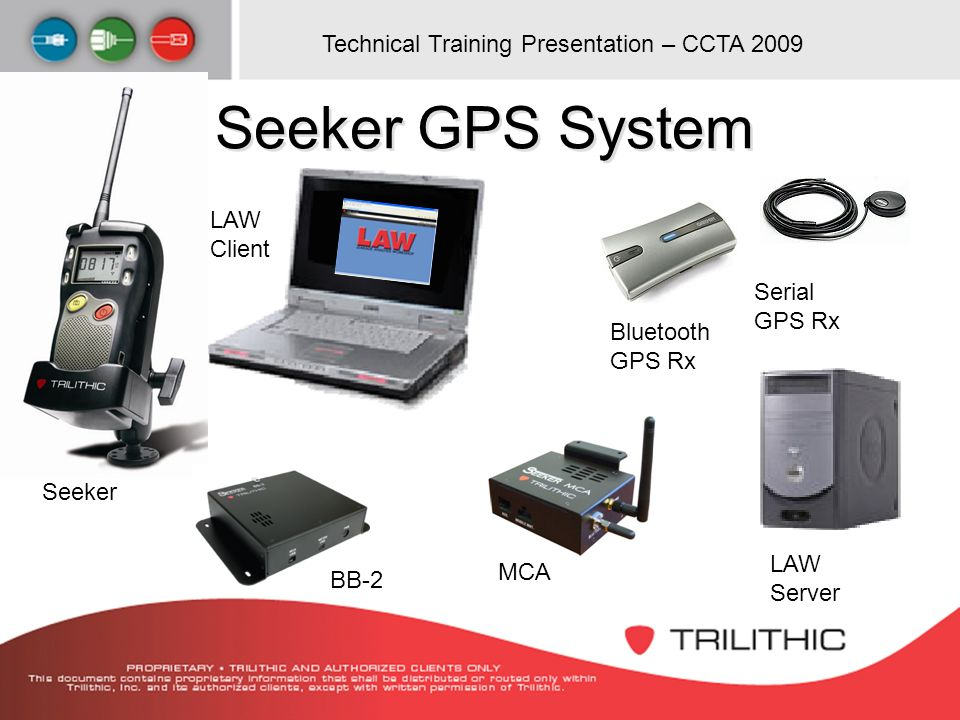 Seeker GPS System LAW Client Serial GPS Rx Bluetooth GPS Rx Seeker LAW