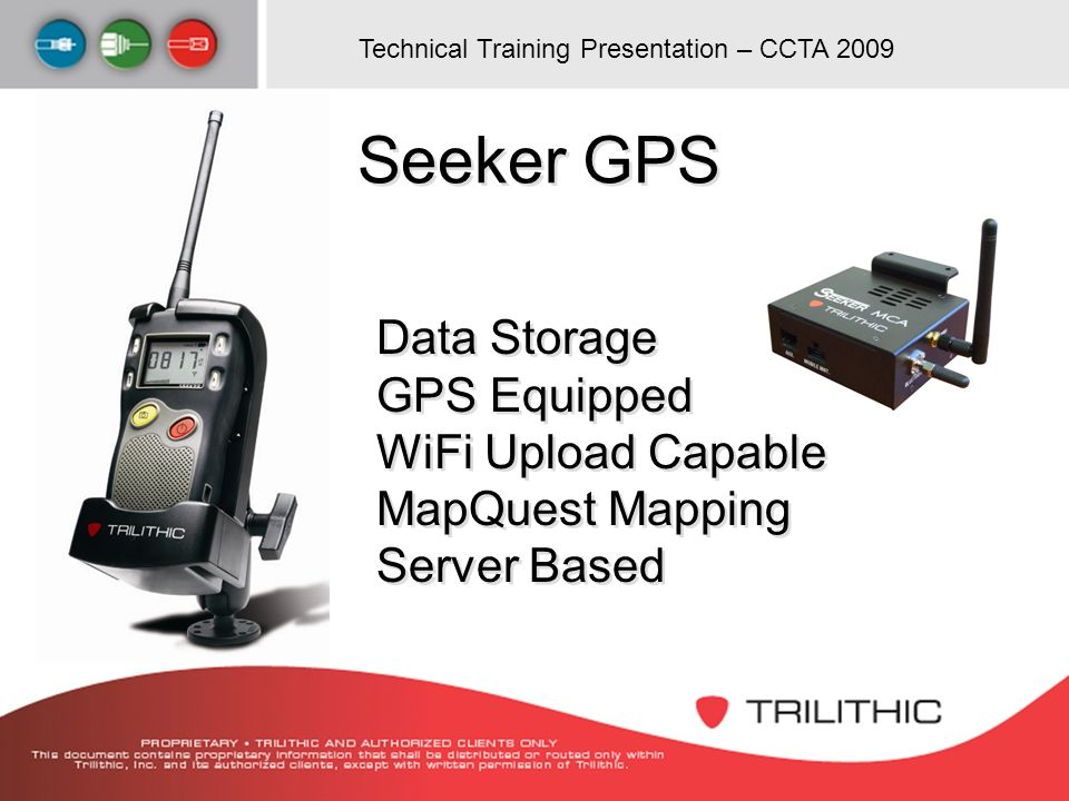 Seeker GPS Data Storage GPS Equipped WiFi Upload Capable MapQuest Mapping Server Based
