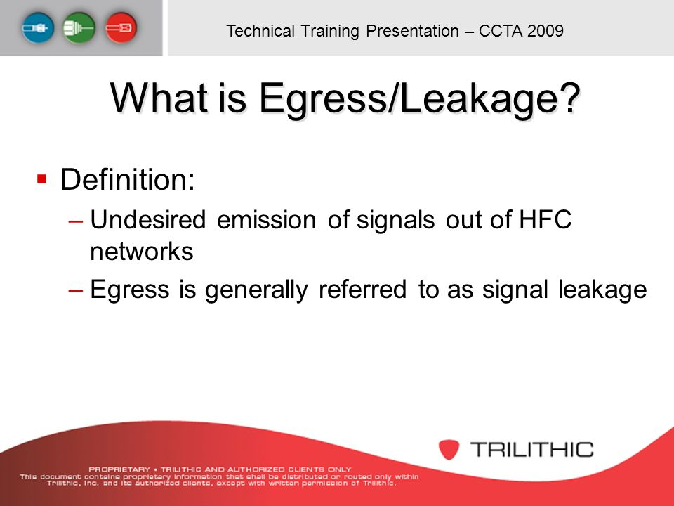 What is Egress/Leakage