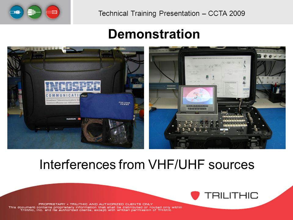 Demonstration Interferences from VHF/UHF sources