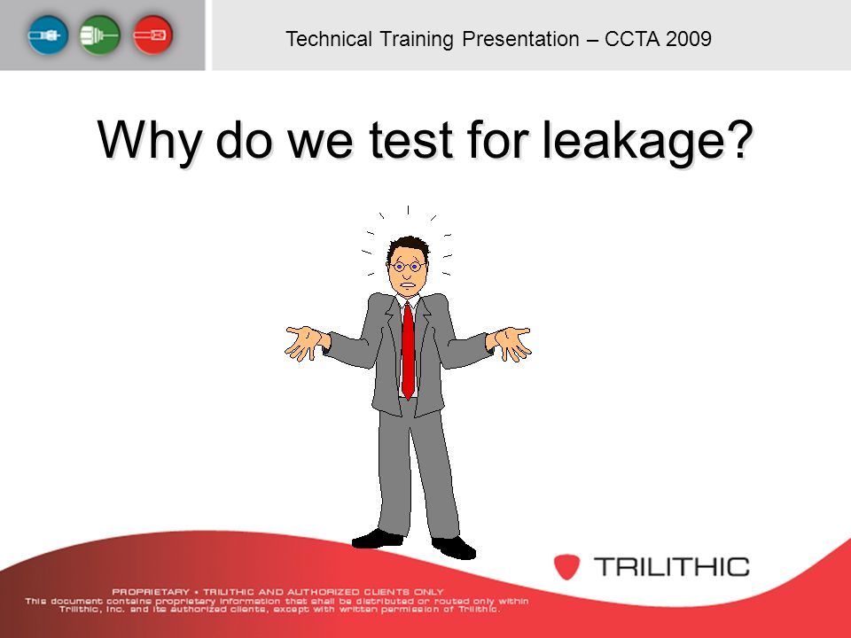 Why do we test for leakage