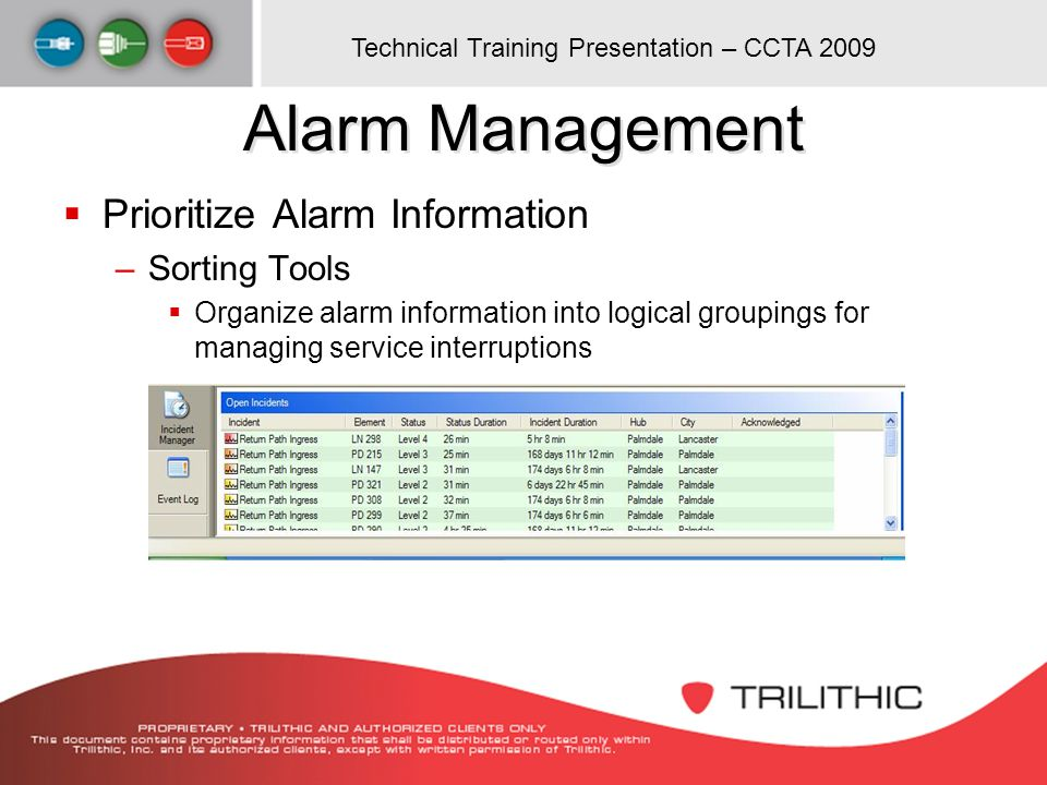 Alarm Management Prioritize Alarm Information Sorting Tools