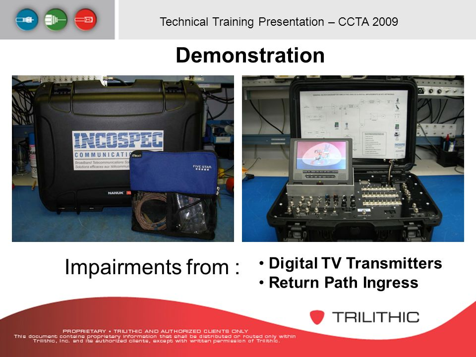 Demonstration Impairments from : Digital TV Transmitters
