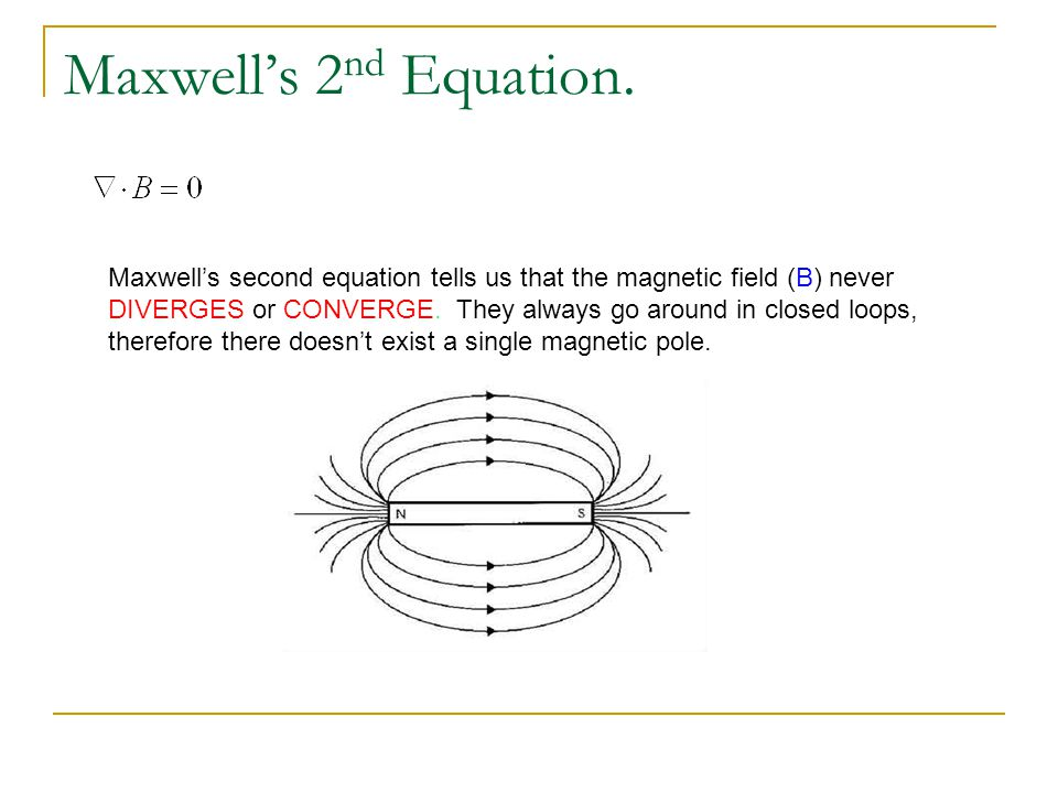 Maxwell's 2nd Equation.