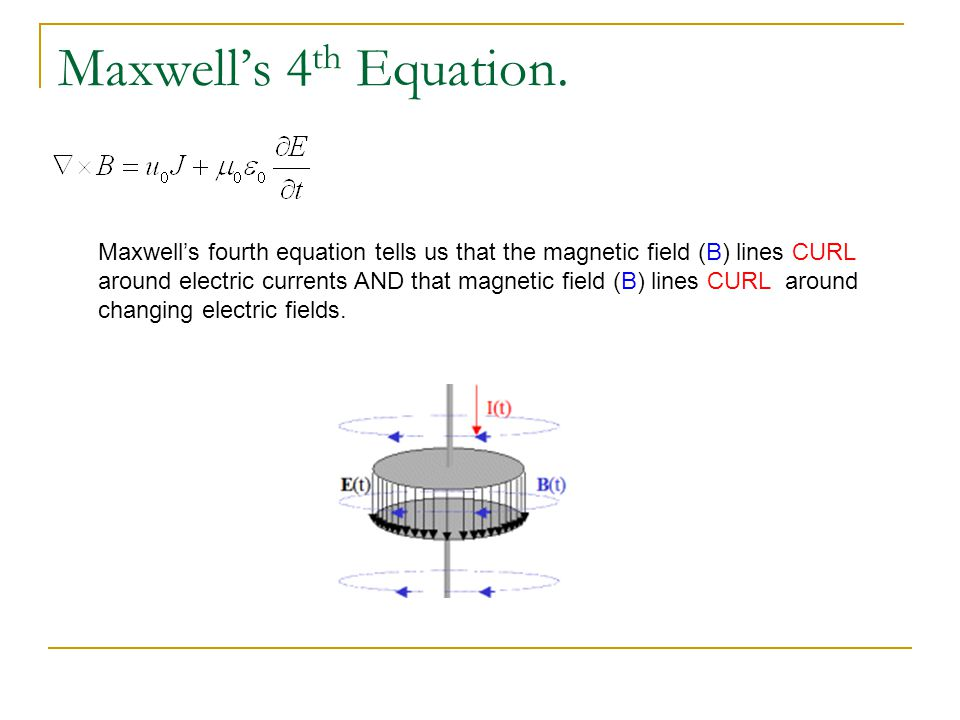 Maxwell's 4th Equation.