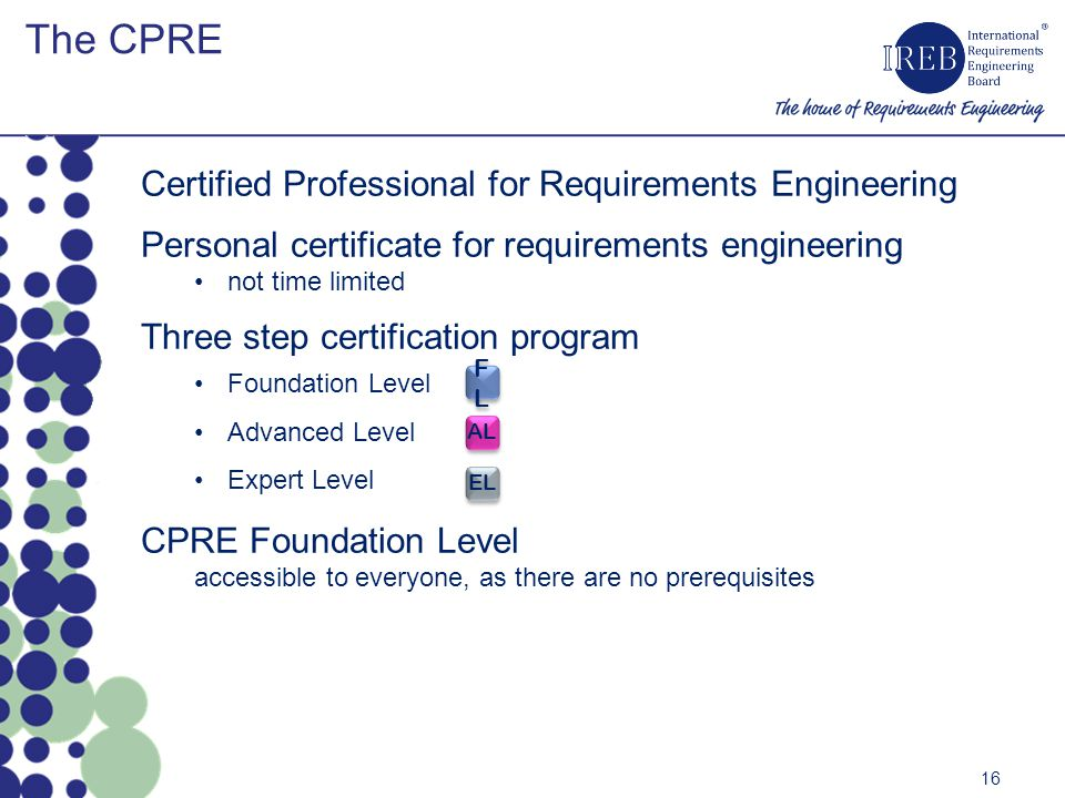 The CPRE Certified Professional for Requirements Engineering