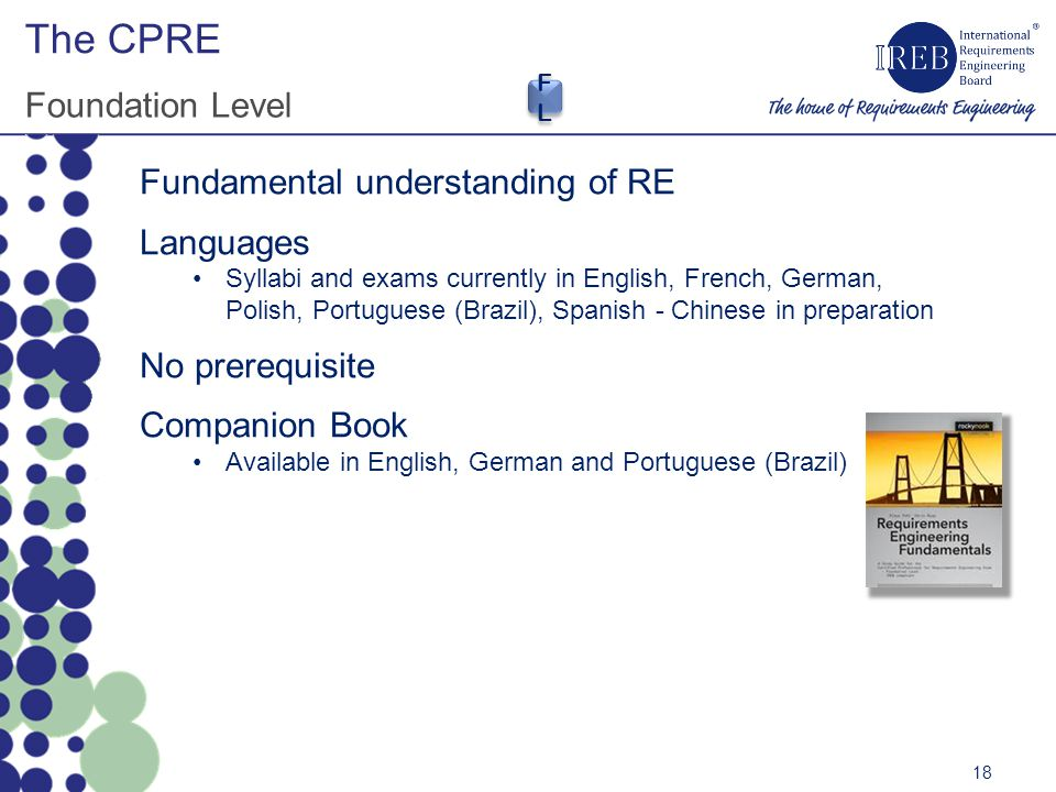 The CPRE Foundation Level Fundamental understanding of RE Languages