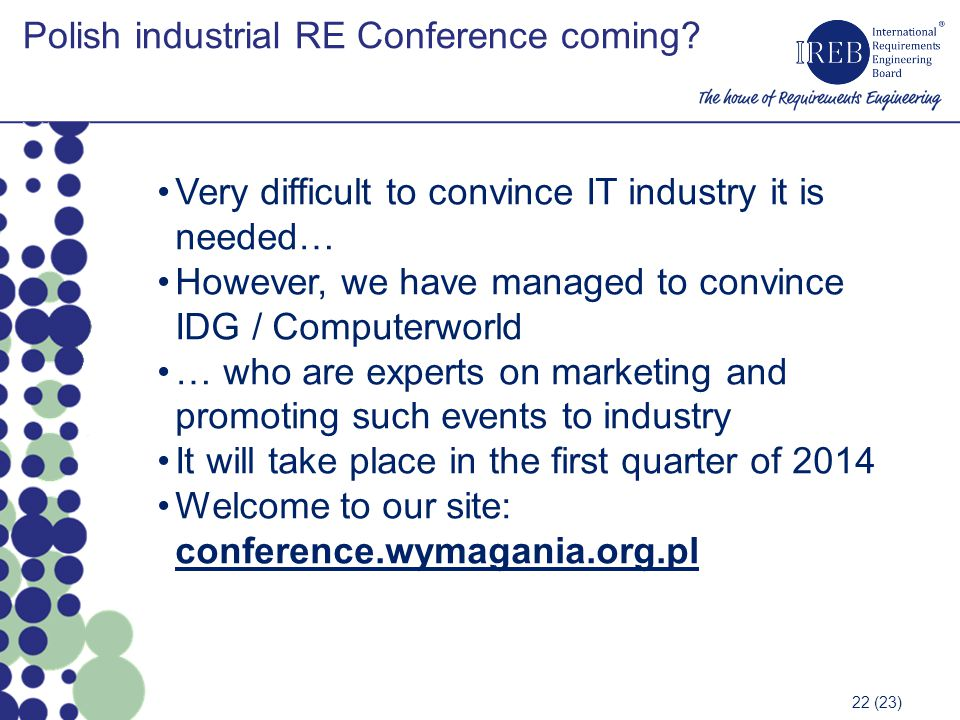 Polish industrial RE Conference coming