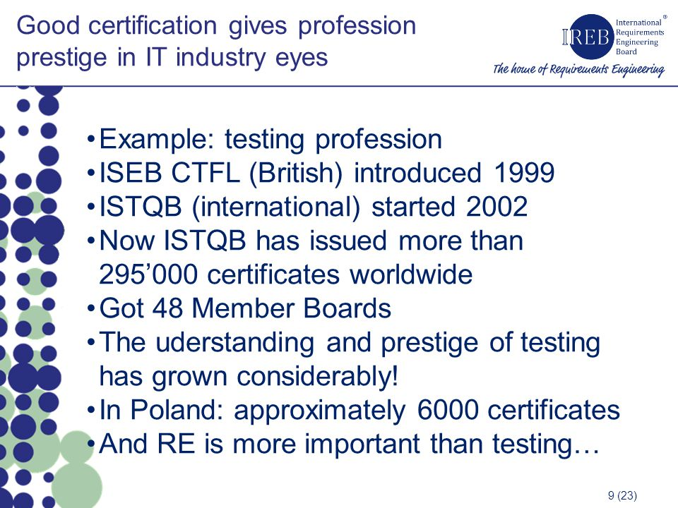 Good certification gives profession prestige in IT industry eyes